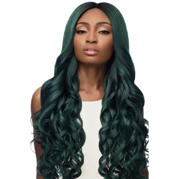 "OUTRE SYNTHETIC HAIR LACE FRONT WIG SWISS LACE I PART SERENA 32"" - Beauty Krew"