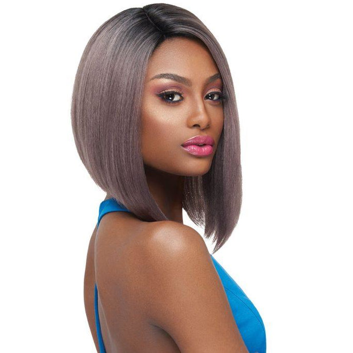 Outre Synthetic L-Parting Swiss Lace Front Wig Issa - Beauty Krew