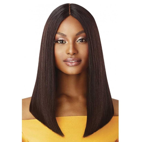 "Outre The Daily Wig™ 100% Unprocessed Human Hair Wig Straight Blunt Cut Bob 16"" - Beauty Krew"