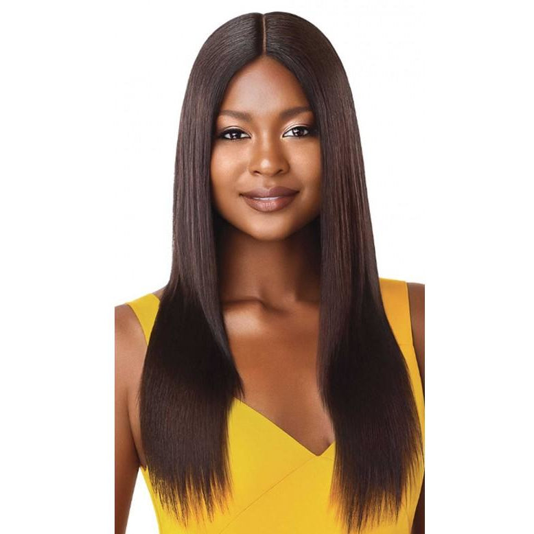 "Outre The Daily Wig™ 100% Unprocessed Human Hair Wig Straight V-Cut 22"" - Beauty Krew"