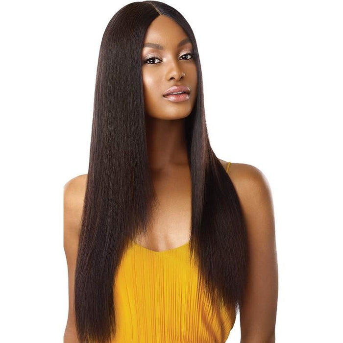 "Outre The Daily Wig™ 100% Unprocessed Human Hair Wig Straight V-Cut 26"" - Beauty Krew"