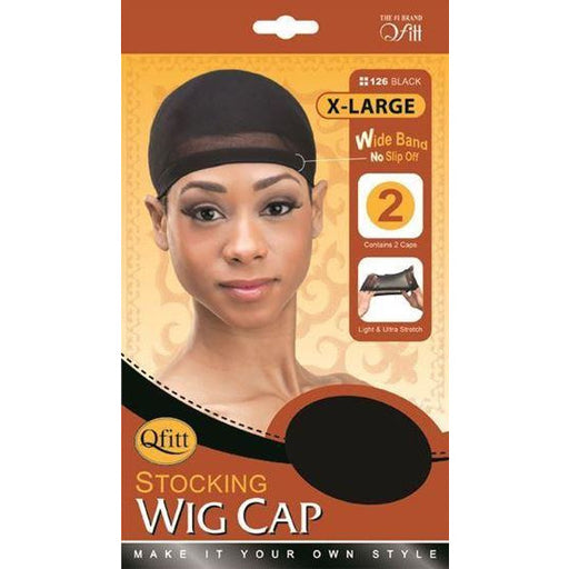 Qfitt X-Large Stocking Wig Cap (2pc/pk) Wide Grip No Slip - Beauty Krew