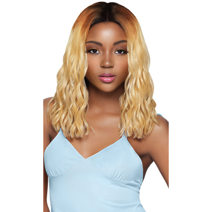 OUTRE SYNTHETIC HAIR LACE FRONT WIG SWISS LACE I PART BLUNT CUT CURLY SHAWNI - Beauty Krew