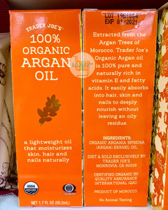 TRADER JOE'S - 100% Organic Argan Oil