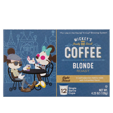DISNEY PARKS - Mickey's Really Swell Coffee - Blonde Roast (Single Serve Cups for Keurig K-Cup Brewing System)