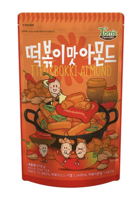 TOM'S FARM - Almond - Spicy Tteokbokki (Spicy Rice Cake) Flavor Almond