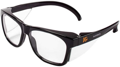 KLEENGUARD - Safety Glasses - Maverick Wraparound Safety Glasses - Clear/Black