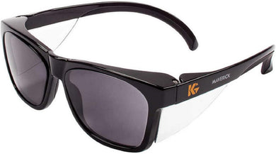 KLEENGUARD - Safety Glasses - Maverick Wraparound Safety Glasses - Smoke/Black