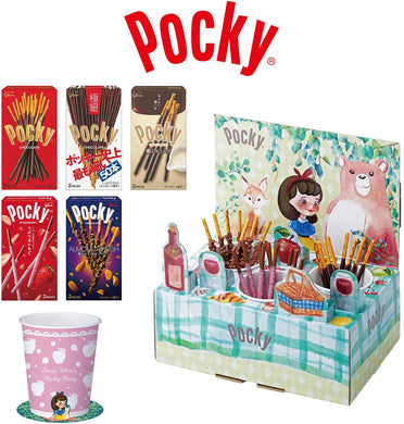 GLICO POCKY - Ezaki Share Happy Box - Snow White's Picnic Tea Party Set - Limited Edition