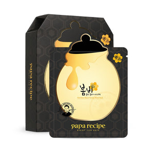 PAPA RECIPE - Bombee Black Honey Mask (10-Sheet Box)