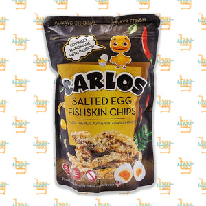 CARLOS -  Salted Egg Fishskin Chips (100g)