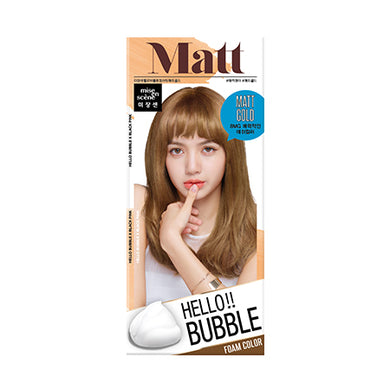MISE-EN-SCENE - Hello Bubble Foam Color x Black Pink - 8MG Matte Gold