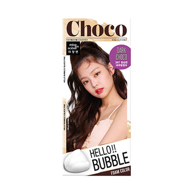 MISE-EN-SCENE - Hello Bubble Foam Color x Black Pink - 3NT Dark Choco