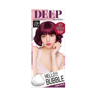 MISE-EN-SCENE - Hello Bubble Foam Color x Black Pink - 5BR Deep Bordeaux Rose