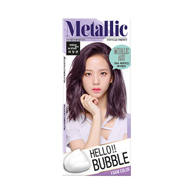 MISE-EN-SCENE - Hello Bubble Foam Color x Black Pink - 7MA Metallic Ash