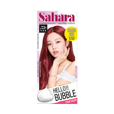 MISE-EN-SCENE - Hello Bubble Foam Color x Black Pink - 7P Sahara Rose Pink