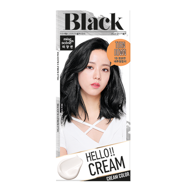 MISE-EN-SCENE - Hello Cream Color x Black Pink - 1B Mystic Black Turn Color