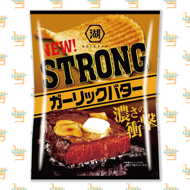 KOIKEYA - STRONG Potato Chips - Garlic Butter (56g) x 12 Bags