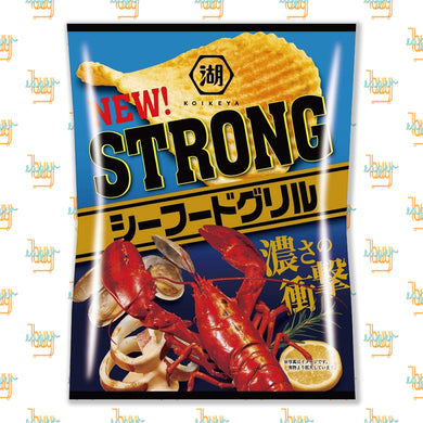 KOIKEYA - STRONG Potato Chips - Seafood Grill (56g) x 12 Bags