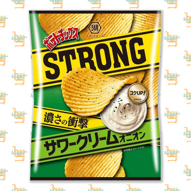 KOIKEYA - STRONG Potato Chips - Sour Cream Onion (56g) x 12 Bags