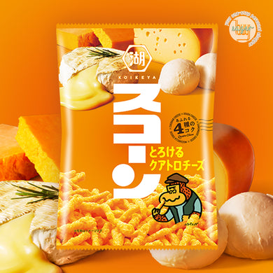 KOIKEYA - SUCORN Corn Snack - Melty Quattro Cheese (75g) x 3 Bags