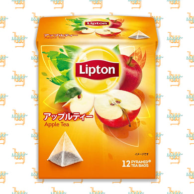 LIPTON - Flavor Apple Tea (12-Pyramid-Tea-Bag Box) x 6 Boxes