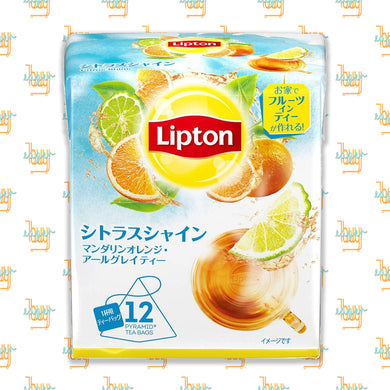 LIPTON - Flavor Citrus Shine Tea (12-Pyramid-Tea-Bag Box) x 6 Boxes