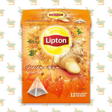 LIPTON - Flavor Ginger Tea (12-Pyramid-Tea-Bag Box) x 6 Boxes