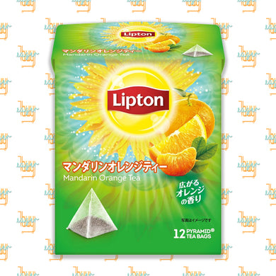 LIPTON - Flavor Mandarin Orange Tea (12-Pyramid-Tea-Bag Box) x 6 Boxes