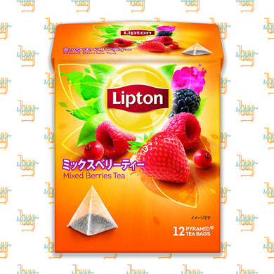 LIPTON - Flavor Mixed Berries Tea (12-Pyramid-Tea-Bag Box) x 6 Boxes