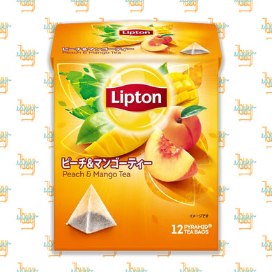 LIPTON - Flavor Peach & Mango Tea (12-Pyramid-Tea-Bag Box) x 6 Boxes