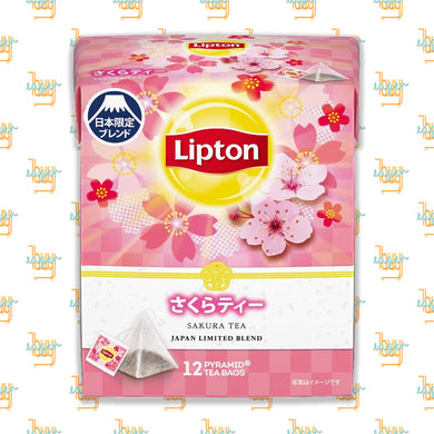 LIPTON - Japan Limited Blend - Sakura Tea (12-Pyramid-Tea-Bag Box) x 6 Boxes