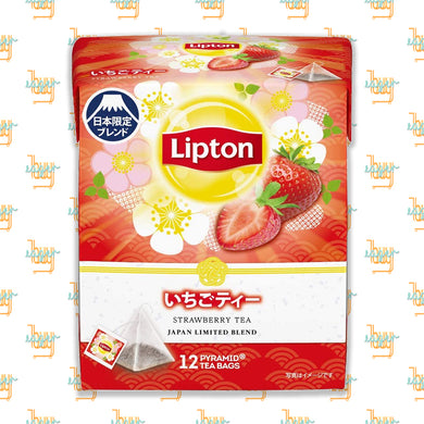 LIPTON - Japan Limited Blend - Strawberry Tea (12-Pyramid-Tea-Bag Box) x 6 Boxes