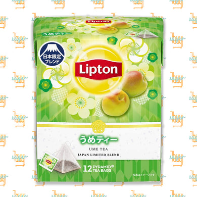 LIPTON - Japan Limited Blend - Ume Tea (12-Pyramid-Tea-Bag Box) x 6 Boxes