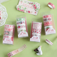 Load image into Gallery viewer, CARD LOVER - Washi Masking Tape Set of 4 - Strawberry Party