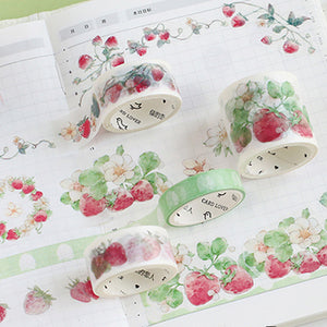 CARD LOVER - Washi Masking Tape Set of 4 - Strawberry Party