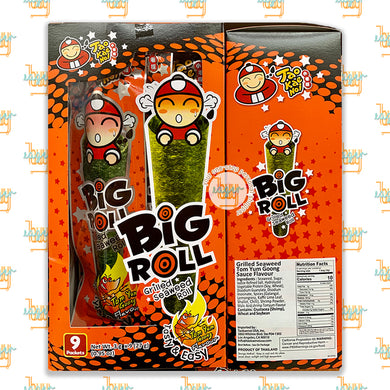 TAO KAE NOI - Big Roll Grilled Seaweed Roll - Tom Yum Goong Flavor (9 Packets)
