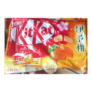NESTLE KITKAT - Mini Chocolate Stick - Iyokan (Mandarin Orange) Flavor (12-Piece Bag)