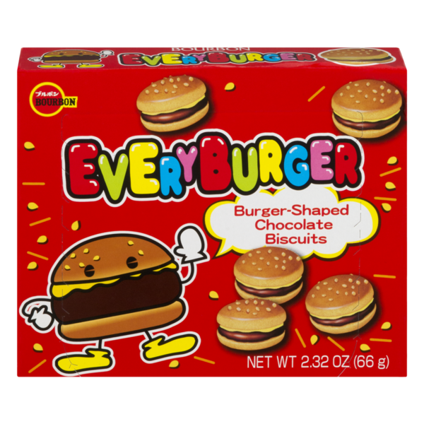 BOURBON - Every Burger - Cookie - Burger Shaped Chocolate Filled Cookies