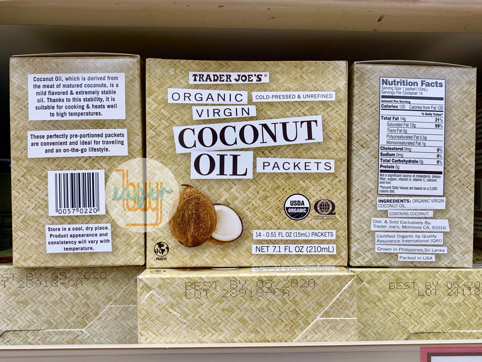 TRADER JOE'S - Organic Virgin Coconut Oil Packets