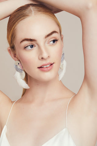 Lela Rose x Mignonne Gavigan<br>Swan Earrings