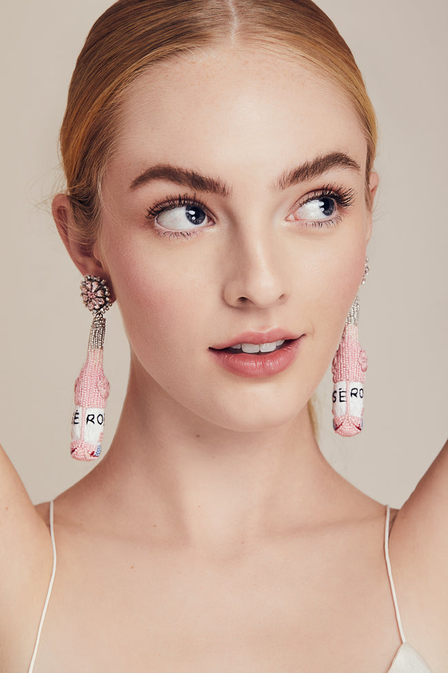 Lela Rose x Mignonne Gavigan<br>Rosé Earrings