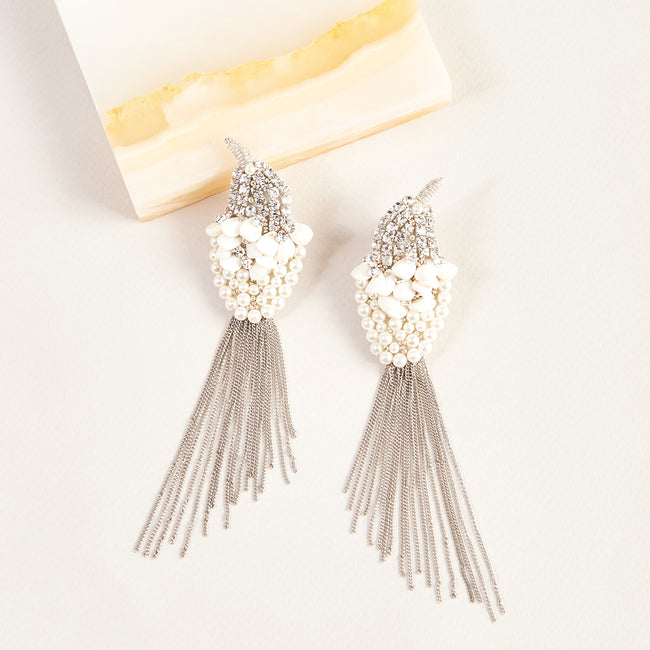Lela Rose x Mignonne Gavigan<br>Crystal Bird Earrings