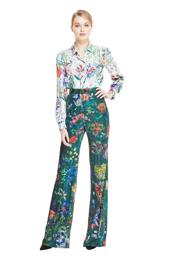 Wild Flower Stretch Crepe Maggie Pant