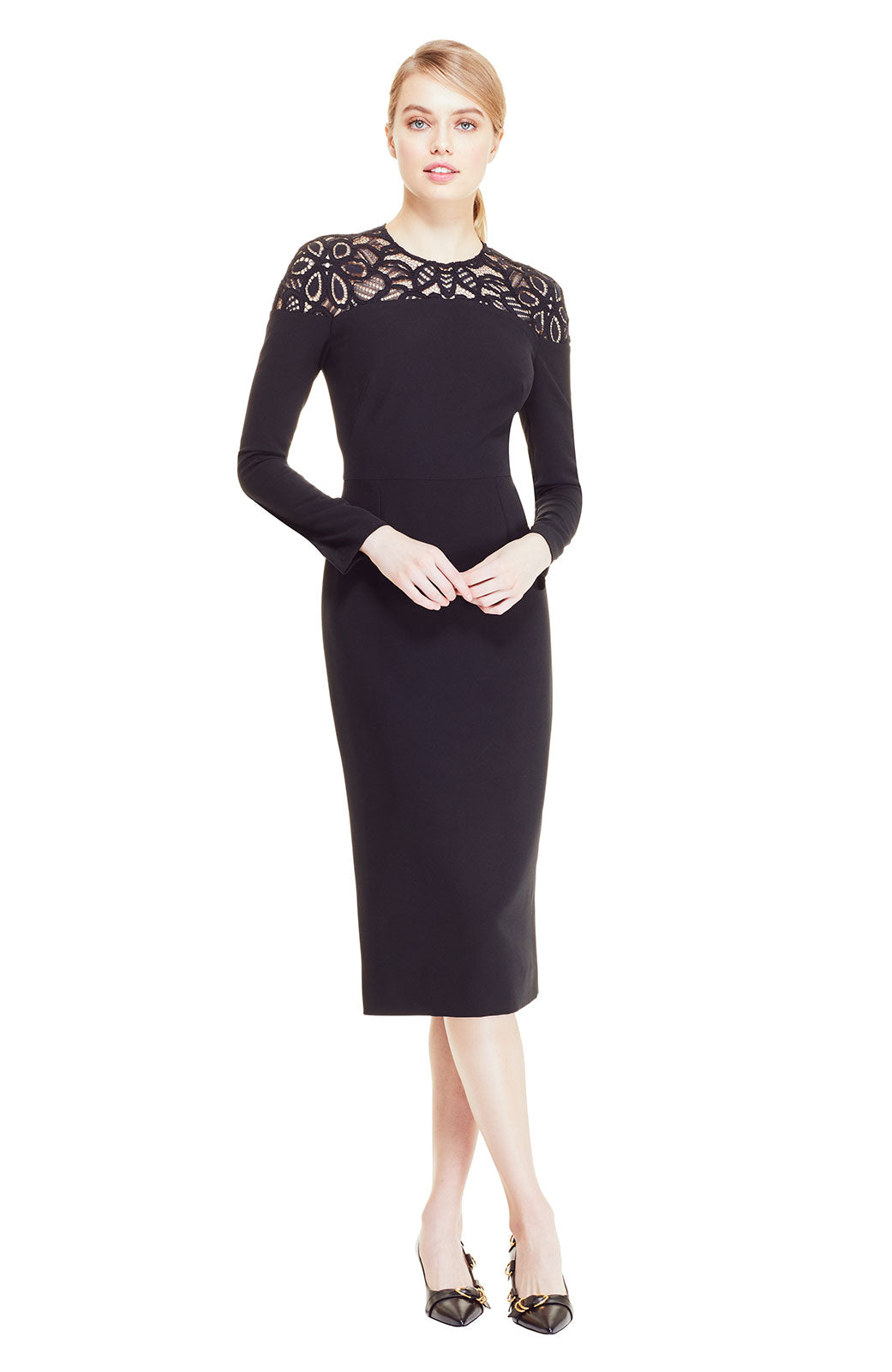 Corded Lace Yoke Sheath