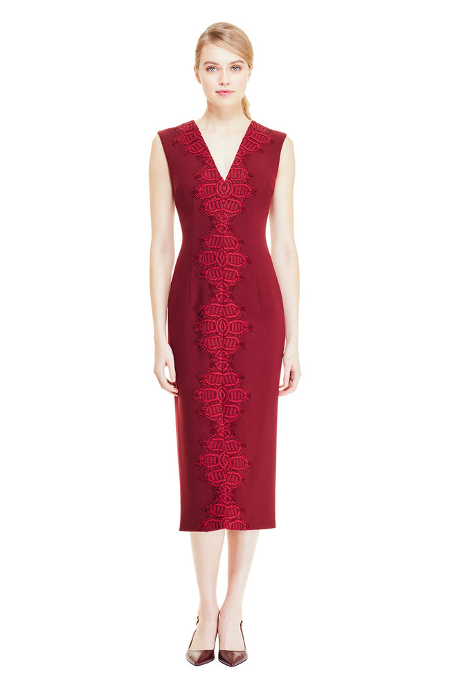 Corded Lace Detail Sheath