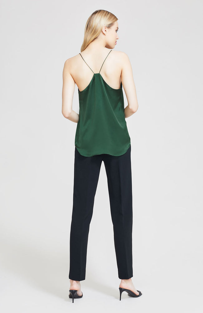 Satin Chiffon V-Neck Tank Top