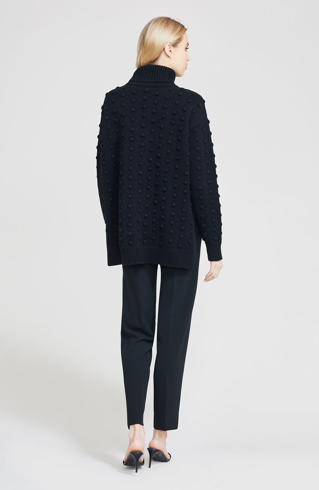 Dotted Knit Turtleneck