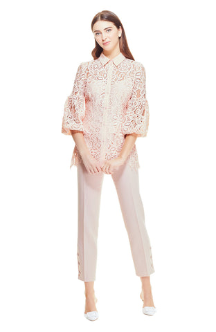 Floral Corded Lace Full Sleeve Shirt