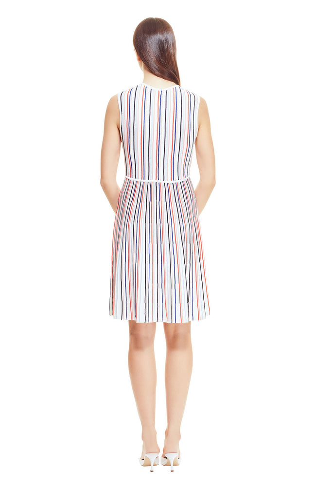 Pinstripe Knit Multi Stripe Dress